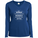 Ladies' LS Performance V-Neck T-Shirt