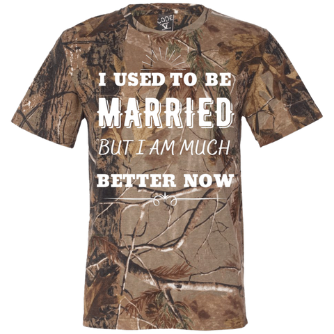 I Used To Be Married Short Sleeve Camouflage T-Shirt