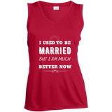 I Used To Be Married Ladies' Sleeveless Moisture Absorbing V-Neck
