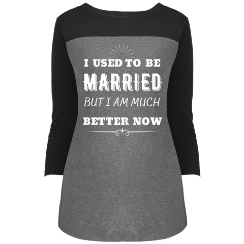 I Used To Be Married Juniors' Rally 3/4 Sleeve T-Shirt