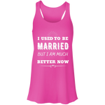 I Used To Be Married Flowy Racerback Tank