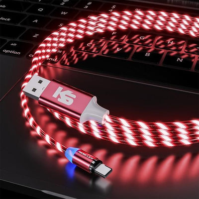 Leuchtendes Lightning USB Ladekabel Flow Light LED Optik