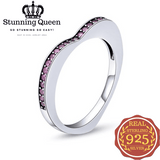 Double Colors Heart Dolphin Ring in 925 Sterling Silver|StunningQueen.com