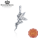 Flower Fairy Dangle Pendant Charms Bracelet in 925 Sterling Silver|StunningQueen.com