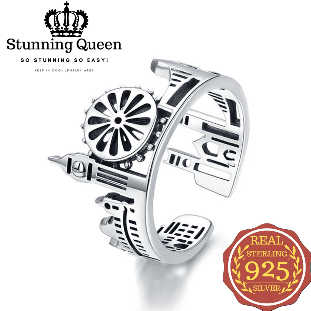 Stunning Queen London City Ring in 925 Sterling Silver|Wedding Rings|Engagement Rings|StunningQueen.com