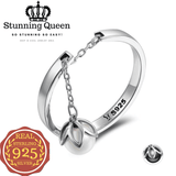 Stunning Queen Tears Of Flowers Pendant Adjustable Ring in 925 Sterling Silver|Wedding Rings|Engagement Rings|StunningQueen.com