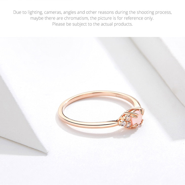Stunning Queen Luxury Pink Crystal Ring in 925 Sterling Silver|Wedding Rings|Engagement Rings|StunningQueen.com