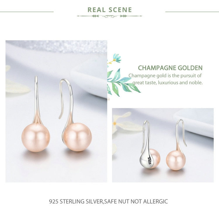 Elegant Pure Love Pearl Earring in 925 Sterling Silver|StunningQueen.com