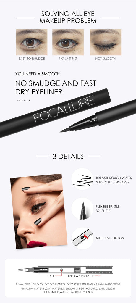 24 Hours Long Lasting Waterproof Professional Liquid Eyeliner Pencil|StunningQueen.com