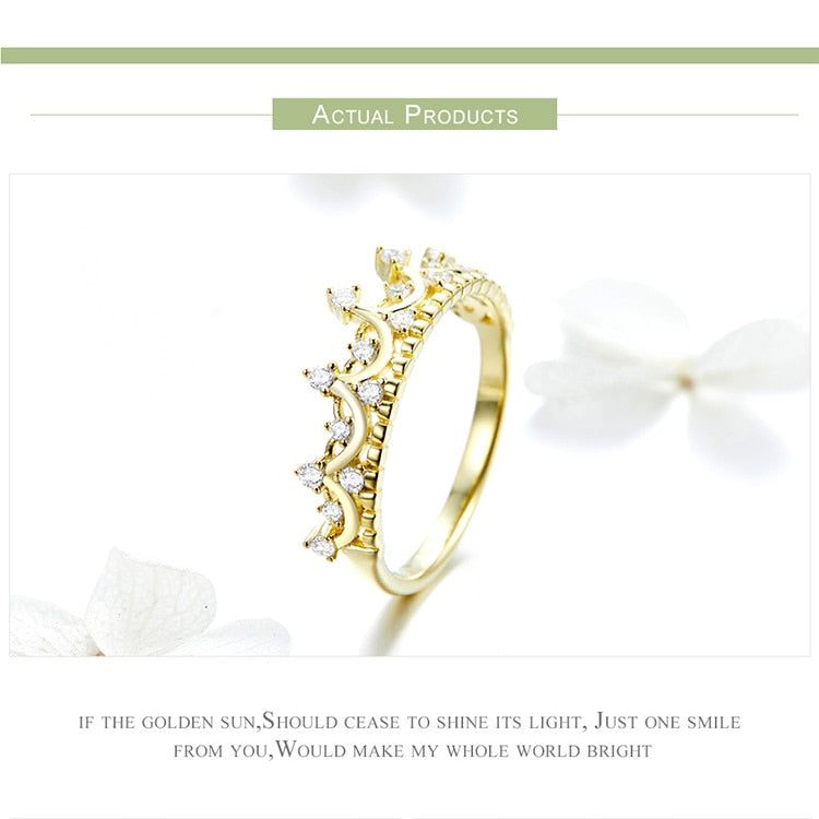 Stunning Queen Princess Crown Ring in 925 Sterling Silver|Wedding Rings|Engagement Rings|StunningQueen.com