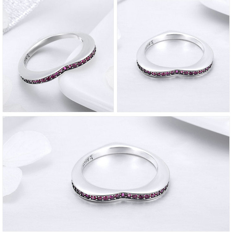 Stunning Queen Double Colors Heart Dolphin Ring in 925 Sterling Silver|Wedding Rings|Engagement Rings|StunningQueen.com