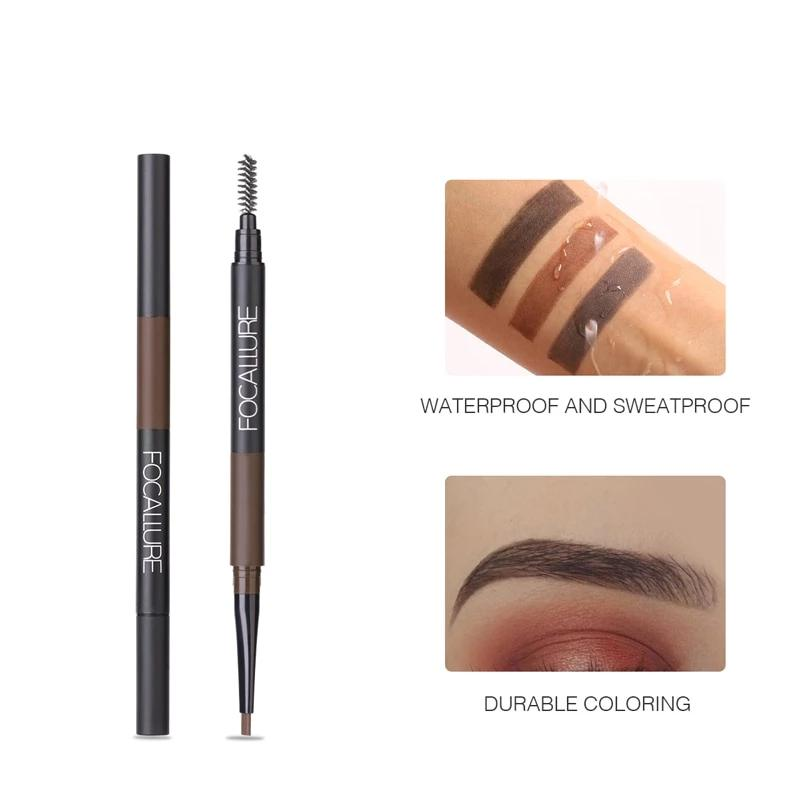 3 in 1 Long Lasting Waterproof Makeup Eyebrow Brush|StunningQueen.com