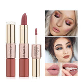 12 Colors Long Lasting Waterproof Moisture Double-Sided Makeup Lipstick and Lip Gloss|StunningQueen.com