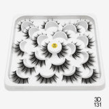 10 Pairs 3D Faux Mink Natural Extension Eyelashes|StunningQueen.com
