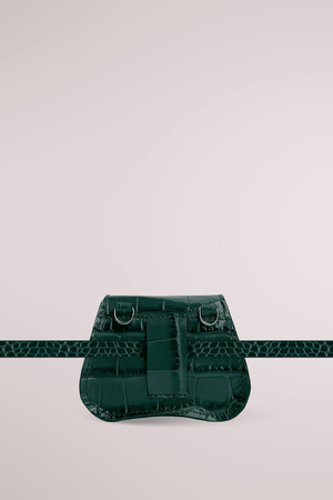 Load image into Gallery viewer, green forest mini bag, croc embossed leather, Amorsito mini bag, Blame Lilac