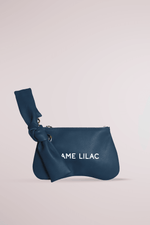 navy butter pochette, calf leather, pillow, cloud, butter, soft bag, butter pochette sand, Blame Lilac
