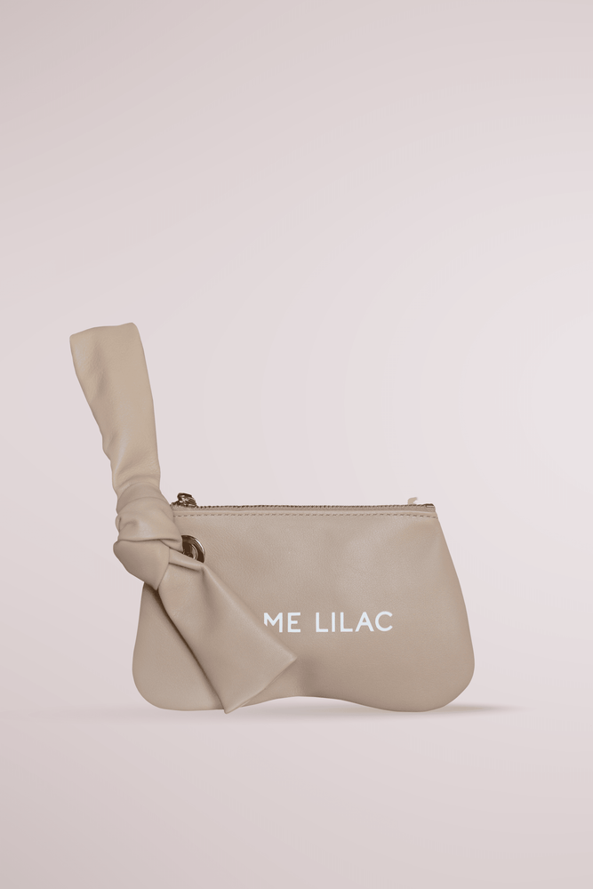 sand butter pochette, calf leather, pillow bag, cloud, butter, soft bag, butter pochette sand, Blame Lilac