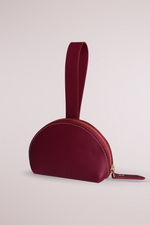 burgundy manica purse, cow leather, coin and card purse, Blame Lilac