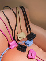 magenta mini bag, cow leather, Amorsito mini bag, multifunctional bag, Blame Lilac