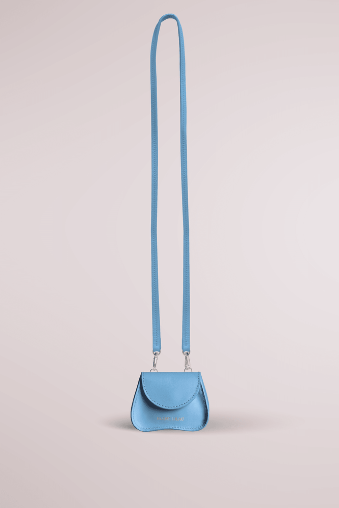 pool blue mini bag, cow leather, Amorsito mini bag, multifunctional bag, Blame Lilac