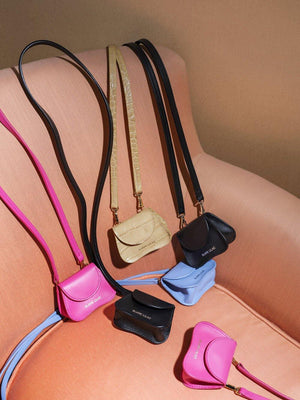 mini bag, cow leather, Amorsito mini bag, multifunctional bag, Blame Lilac