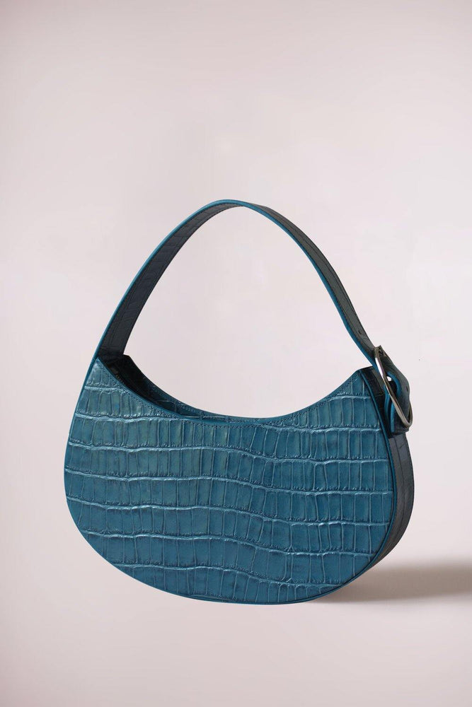 Bidi small croc petrol blue by Blame Lilac