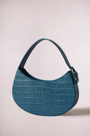 Load image into Gallery viewer, BIDI SMALL CROC PETROL BLUE