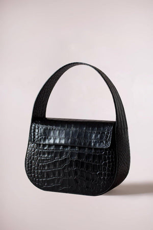 Cesta bag black croc by Blame Lilac