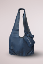 navy maxi shopper bag, cow leather, pillow, cloud, butter, soft bag, Blame Lilac
