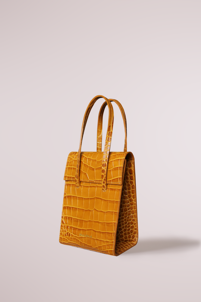 Mini frita bag croc cognac by Blame Lilac