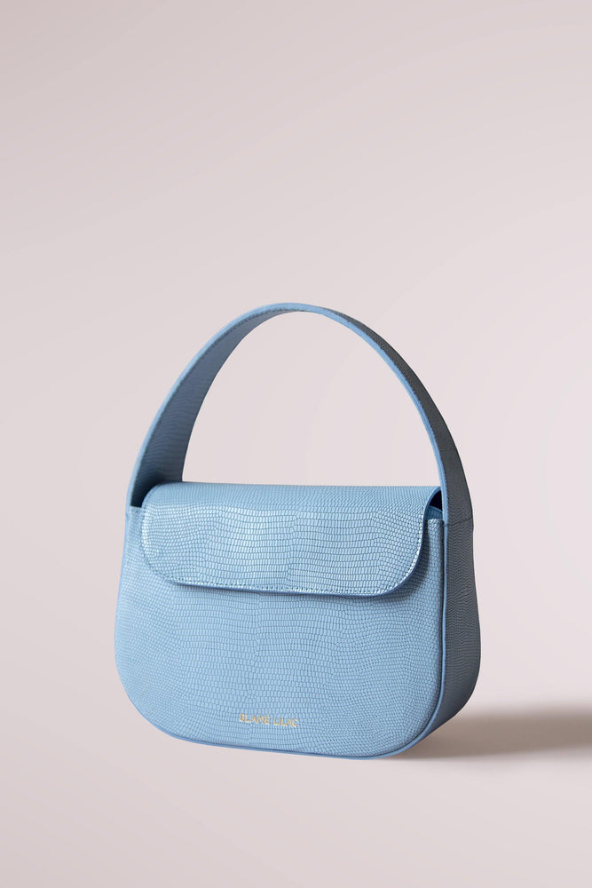 Cesta small bag lizard sky blue by Blame Lilac