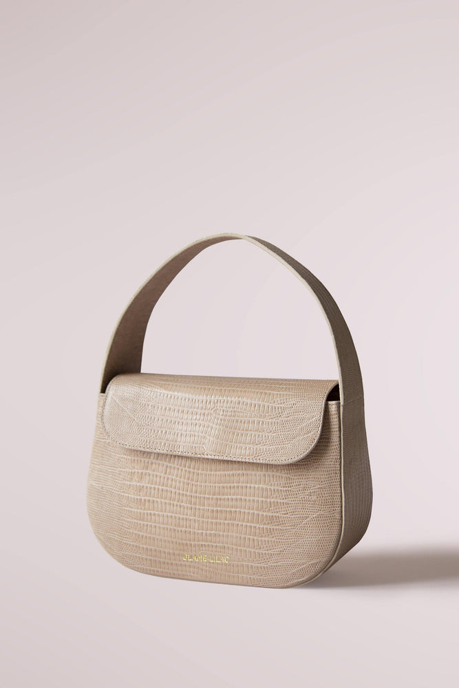Cesta small bag lizard ecru by Blame Lilac