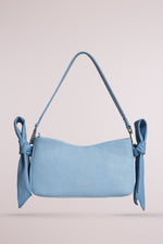 Querida shoulder bag with knots lizard sky blue by Blame Lilac