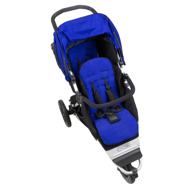 Mountain Buggy +one stroller in marine blue colour top down view_marine