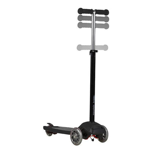 mountain buggy freerider scooter in black colour has adjustable handle bar_black