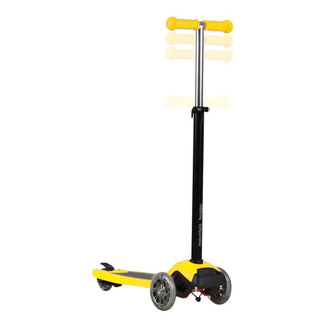 mountain buggy freerider scooter in yellow colour has adjustable handle bar_yellow