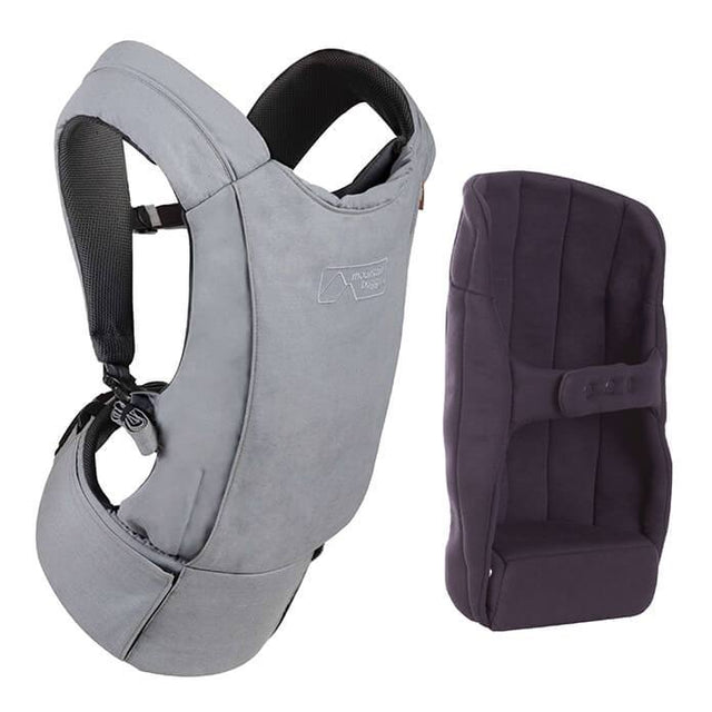 mountain buggy juno baby carrier in charcoal grey colour comes with insert for infants_charcoal