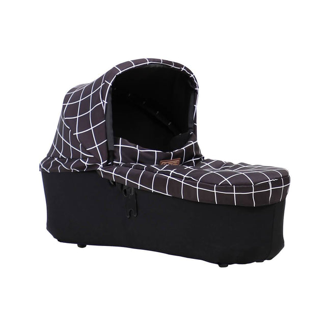 mountain buggy duet carrycot plus in lie flat mode 3/4 view shown in color grid_grid