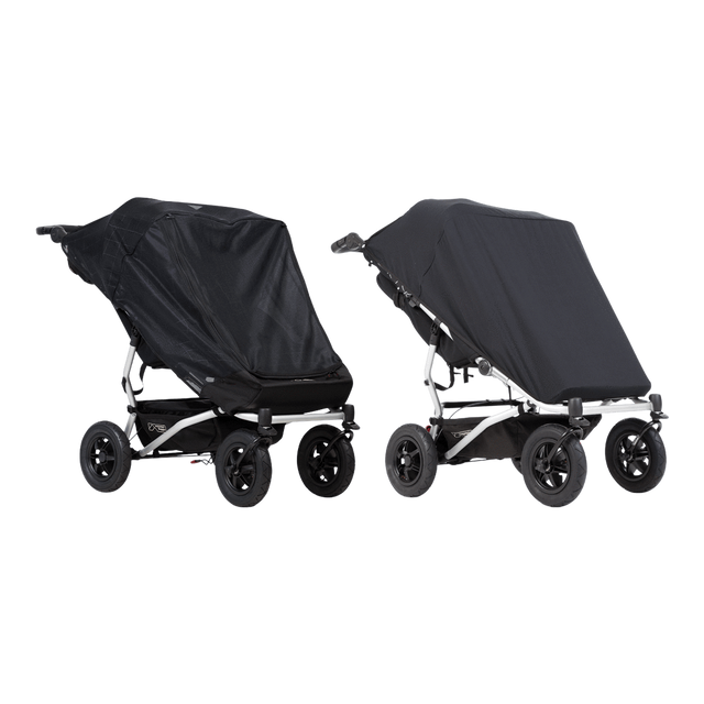 Mountain Buggy duet custom fit double sun mesh cover set with black out cover included_default