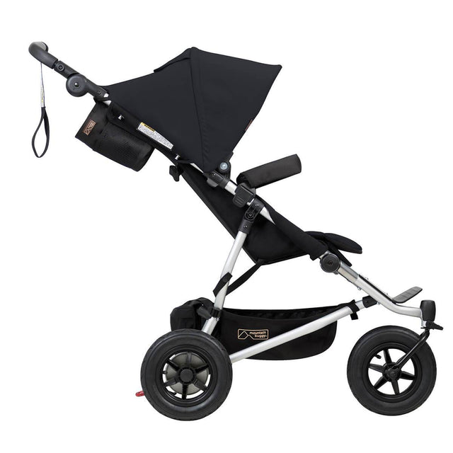 Mountain Buggy duet double buggy side view colour black_black