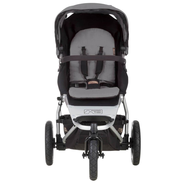 mountain buggy urban jungle all-terrain buggy front view shown in color silver_silver