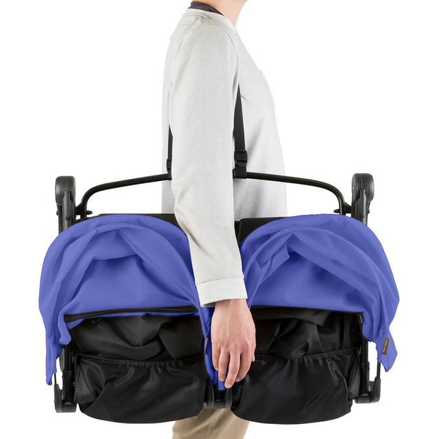 Mountain Buggy nano duo double lightweight buggy with shoulder strap in colour nautical blue_nautical blue