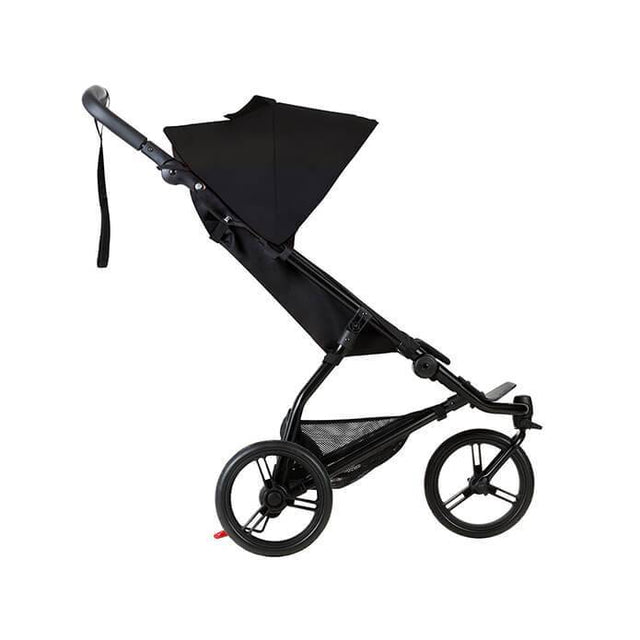 Mountain Buggy mini stroller in black colour side view_black