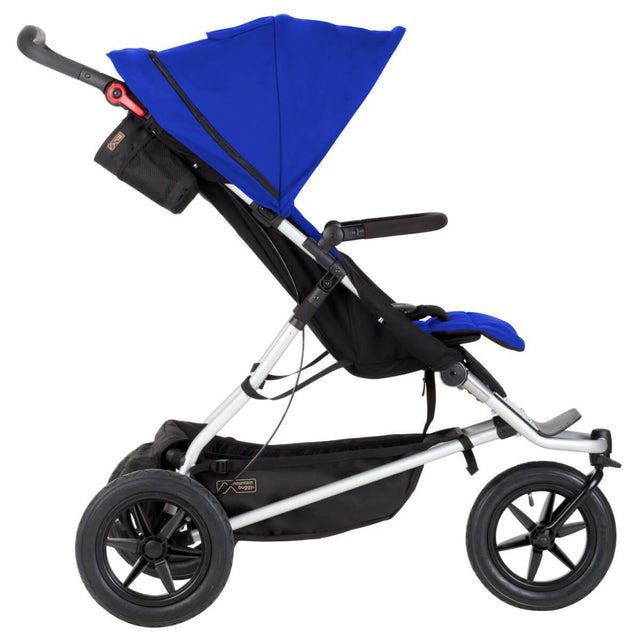 Mountain Buggy +one stroller in marine blue colour side view_marine