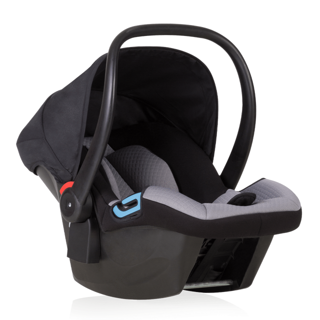 mountain buggy protect capsule for rental progam 3/4 view _9 month_black/silver