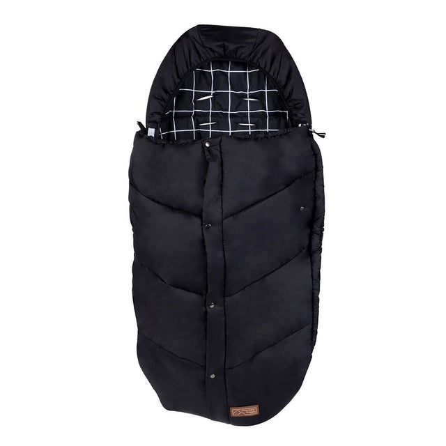 Mountain Buggy durable soft peach lined sleeping bag in colour grid_grid