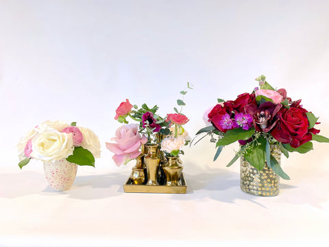 Valentine's Day Collection: shown here left to right: Cupid's Arrow, Saint Valentine's Garden, and Wild Thing