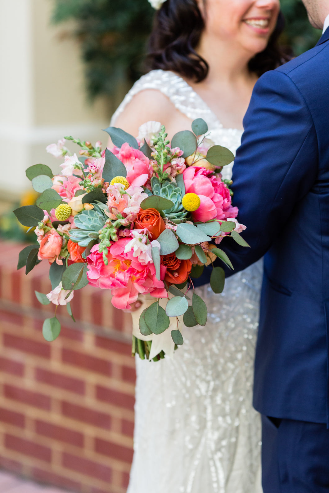 Garden bouquet for DC elopement