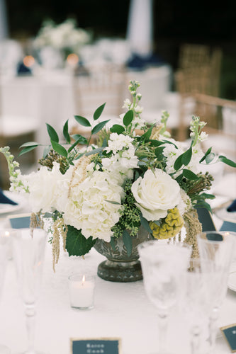 Luxe centerpiece for mini wedding celebration