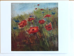 """Greek Poppies"" from and original pastel by Barb Brand Drake , 2017"